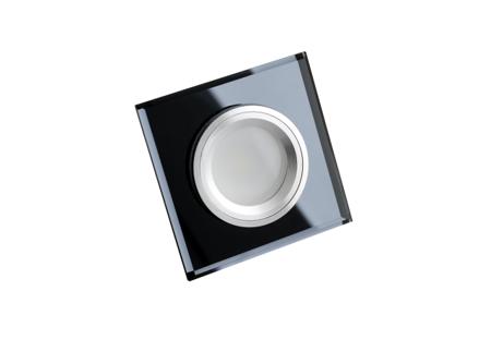 ANLUX Oprawa do wbudowania MR16 kwadratowa stała szkło czarne HDG-DSL50-BL