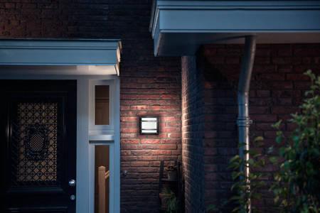 PHILIPS Kinkiet ogrodowy zewnętrzny antracyt myGarden Petronia LED IP44 1x12W 1200lm biała neutralna 4000K 1739493P3