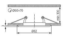 Sufitowa oprawa punktowa ARGUS CT-2114-C/M