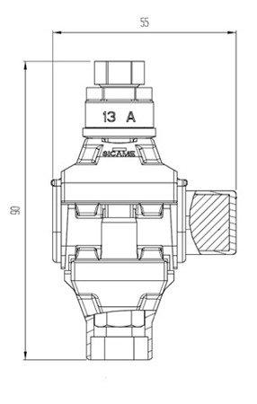 Zacisk jednostronnie przebijający izolację NTD 151 AFA (linia główna: 16-95 mm2; odgałęźna: 2,5-35 mm2)