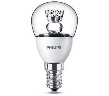 Żarówka LED Philips CorePro lustre 4-25W E14 827 250lm P45 Clear